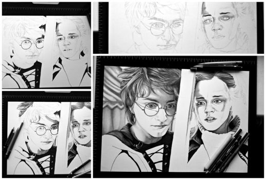 A3 Harry Potter fanart WIP by Fantaasiatoidab