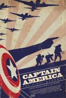 Captain America movie poster by OllieBoyd