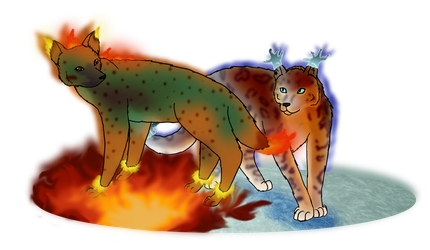 .:Fire and Ice:. by Kindlekitsune