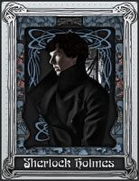 Art Nouveau Sherlock Blue by zanephiri