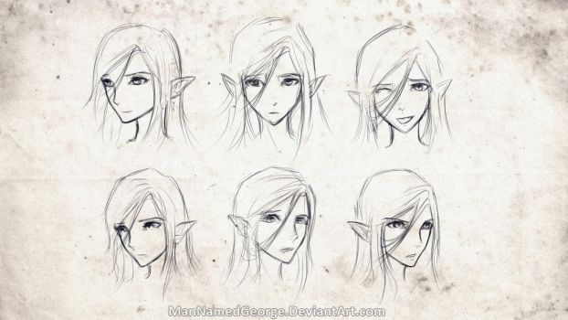 Facial Expression Practice (Val) by CaptainBombastic