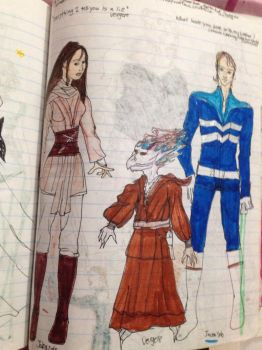 Star Wars 9 2005 Jaina, Vergere and Jacen by Selinelle