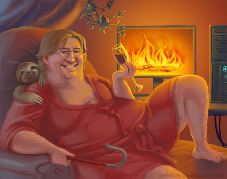 The Magnificent Lair of Gaben by medli20