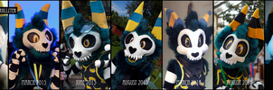 Charnas - fursuit head timeline by Smallblacksticky