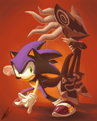 Sonic Forces me to Paint by ShockRabbit