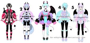 demon boy adoptable batch closed by AS-Adoptables