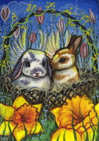 ACEO - Easter Angels by DawnUnicorn