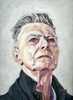 Portrait of David Bowie by theidiotsociety