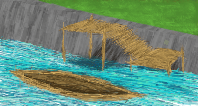 Dock and Boat sketch by LfMcCabe