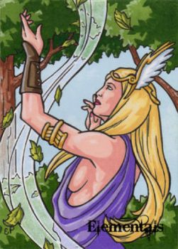 Elementals Sketch Card 1 by ElainePerna