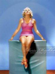 Anita Page ~~ ca 1932 ~~ colourised by Maria-Musikka