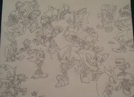 Sonic the Hedgehog and Friends (Contest Entry) by Th3AntiGuardian