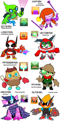 Homestuck Kids As Appmon by Strontium-Chloride