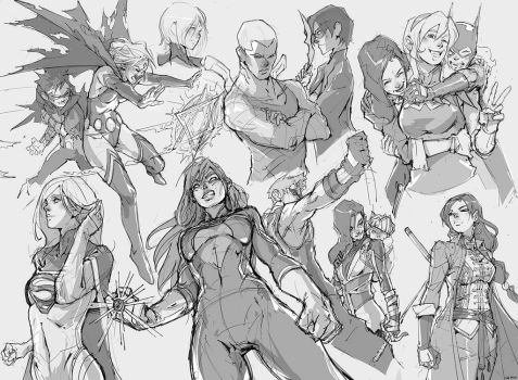 Teen Titans Sketches by tantaku