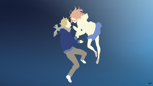 Kyoukai no Kanata Minimalist Wallpaper by greenmapple17