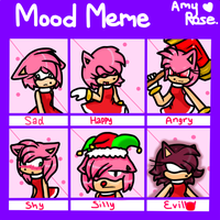 Mood Meme: Amy Rose by icefatal