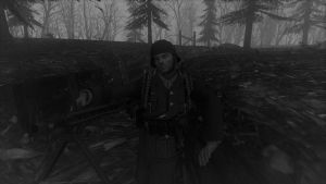 A German With a MachineGun. by spencerbt123