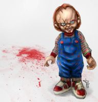 Daily Doodle - Chucky Makes a Mess by jpzilla