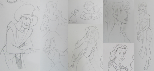 Disney Sketches by AzaleasDolls