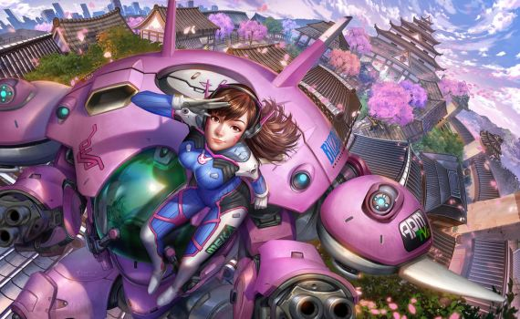 DVA Overwatch .... and friends :P by StCygnus