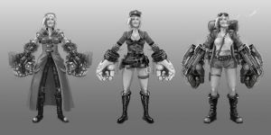 League of Legends - VI Skin Concepts by Zaziky
