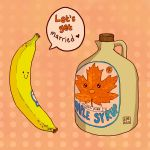 Banana and Maple Syrup by Leharc--BlueHeart