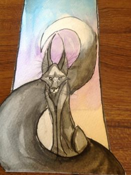 Black Fox bookmark by DreamingofDarkhorses