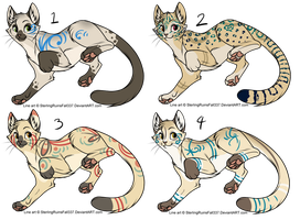 Assorted Feline Designs Batch 7 (CLOSED) by Nocitae