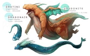 Dratini - Dragonair - Dragonite