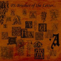 Letter A Brushes by BohemianResources