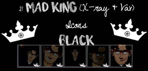 21 Black Mad King Icons by kingdomheartsfangirl