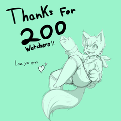 Thanks For 200 Watchers by Masc0t361