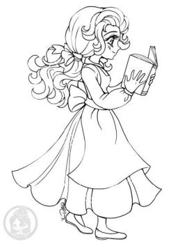 Disney's Belle ::Open Lineart:: by YamPuff