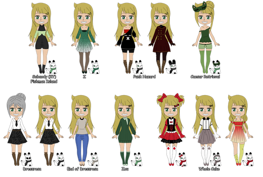 OP OC | Erika and Usagi Outfits After TimeSkip ! by RosiieChan