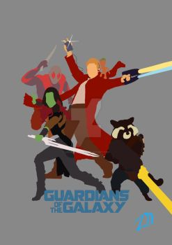 Guardians of the galaxy 2 simplistic poster by LinweCulnamo