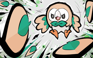Rowlet | Leafage by ishmam