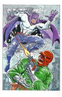 Grim Reaper vs Red Skull by roygbiv666