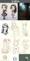 Daily doodles 2014-5 by Lysandr-a