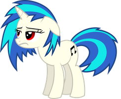 Vinyl Scratch - Having a bad day by namelesshero2222