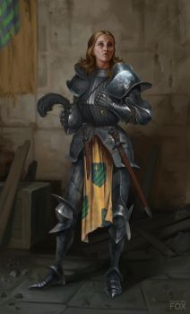 Knight Woman by AnarchicFox