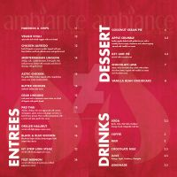 Ambiance Dinner Menu 3 by live-without-borders