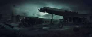 Gas station by PavellKiD