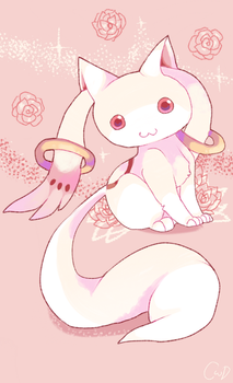 Kyubey by mblepcat