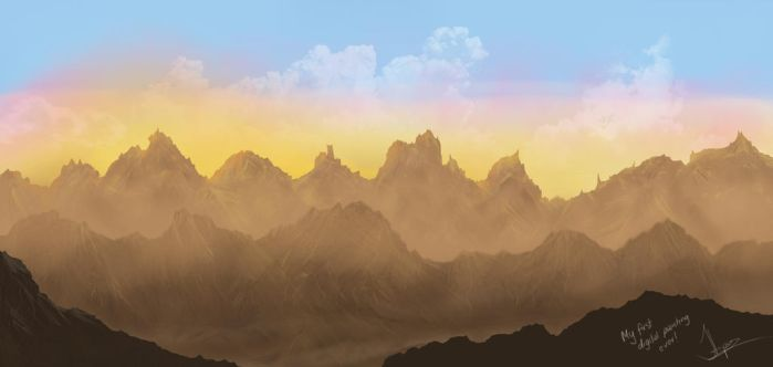 mountains by RapidDisillusion