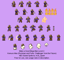 Komuso Man Sheet (Free Usuage) - NES Style by ACE-Spark