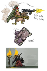 Chickens, Worms, Deamons by Morgoth883
