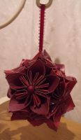 Red and Purple Kusudama by Valley-of-Egeria