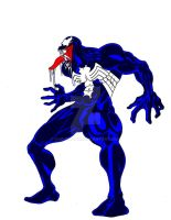 Venom with basic colors by Kukurobuki