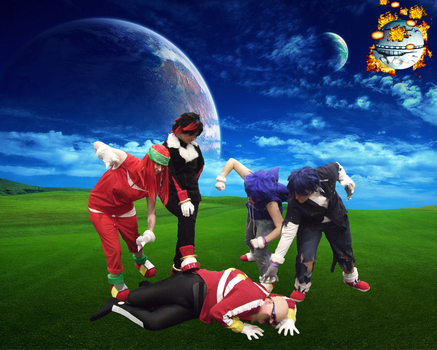 Defeat of Robotnik, fall of the Death Egg by linkinspirit95