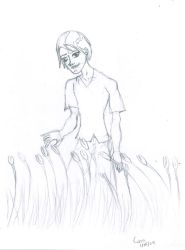 09 Guy With Flowers by Banana-peel